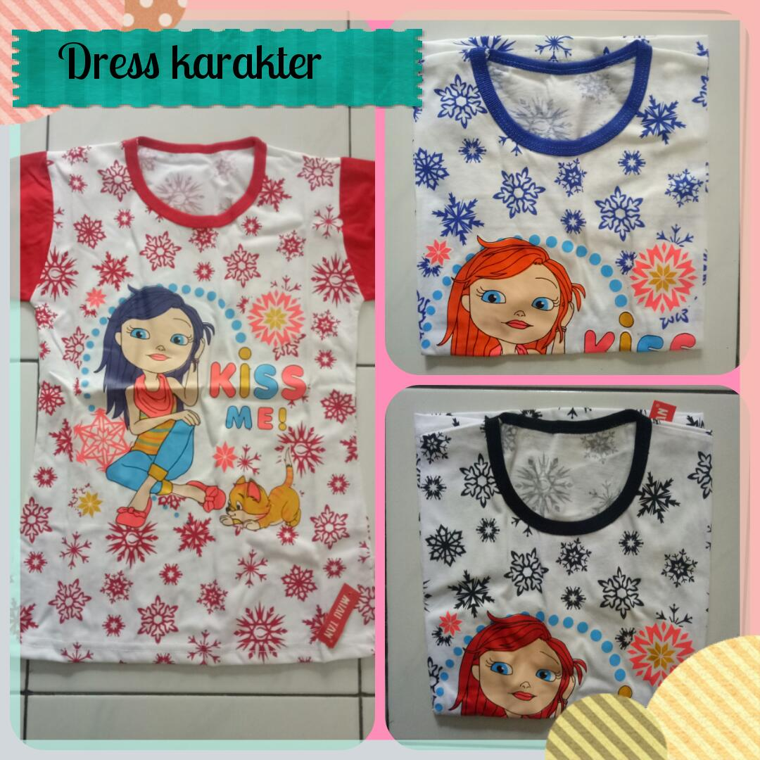 Pusat Grosiran Dress Katun Karakter Murah