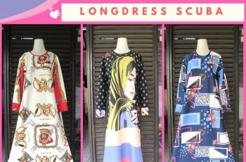 Supplier Longdress Scuba Dewasa Motif Terbaru Murah